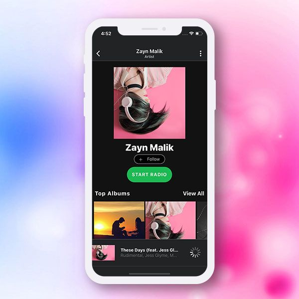 react-native spotify / Music streaming app