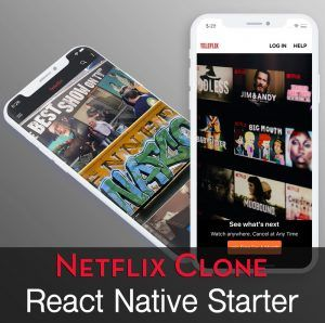 react-native netflix / video streaming app app