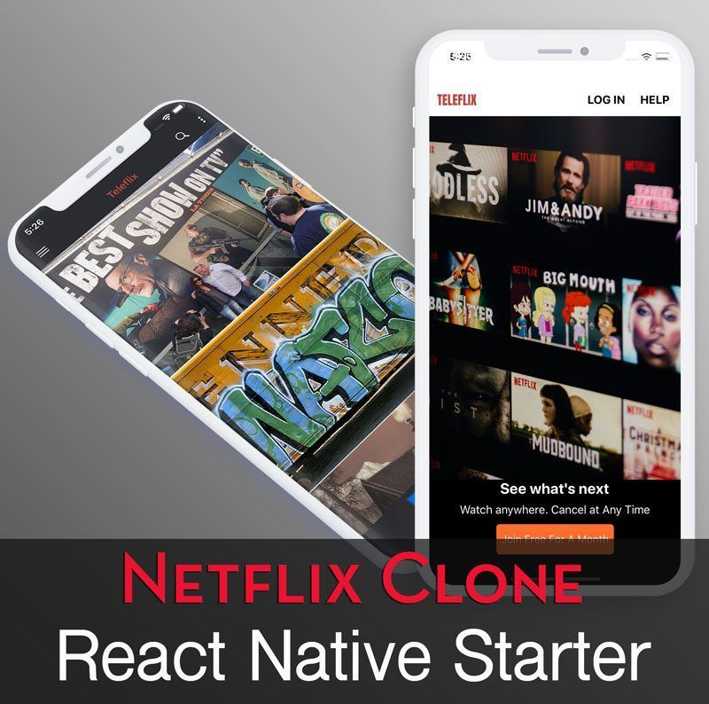 Netflix style video streaming app starter (React Native)