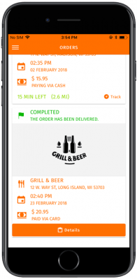 ionic 3 food ordering and delivery app