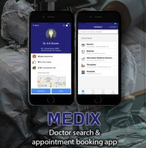 ionic 3 doctor search / appointment booking app