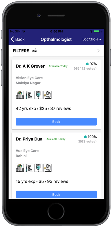 Doctor search app / Doctor appointment app starter (Ionic 3)