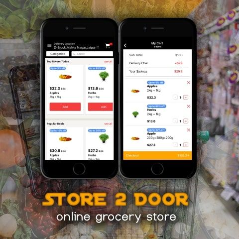 ionic 3 Grocery shopping and delivery app