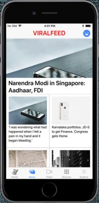 ionic 3 short news app
