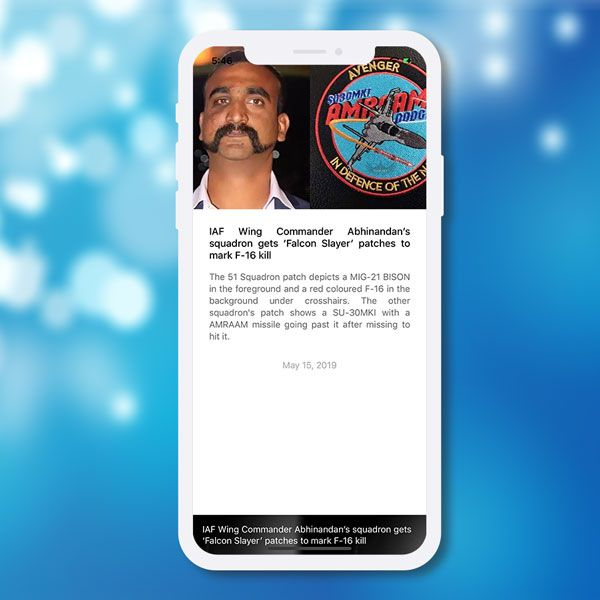 Ionic 4 short news app