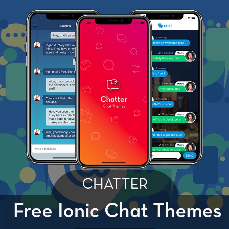 Free Chat Themes Ionic 4 Chatter Enappd