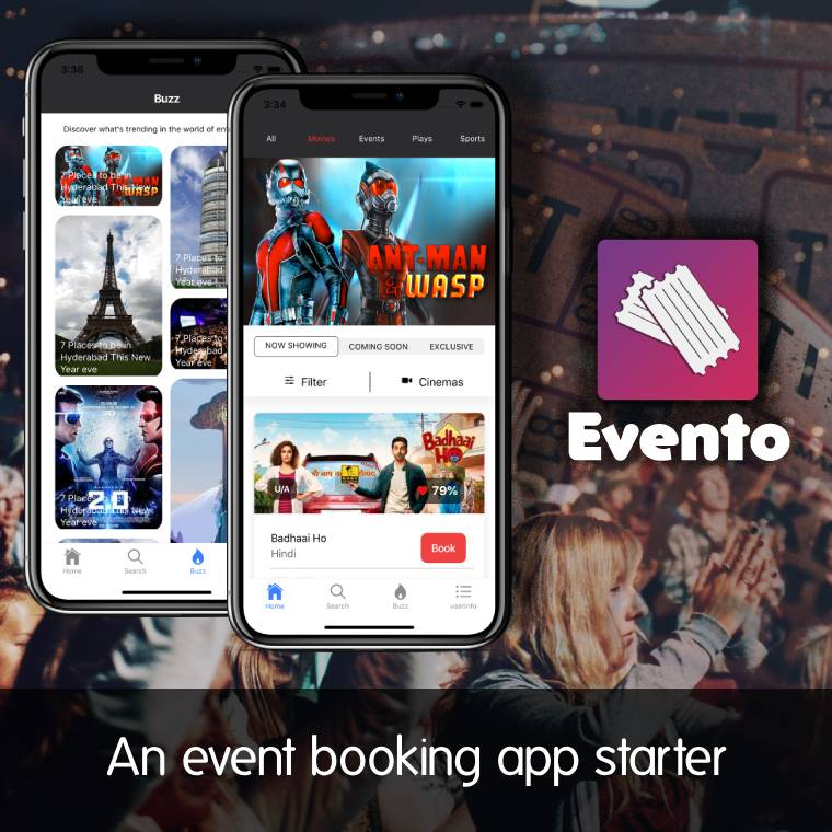 ionic 4 ticket booking app starter