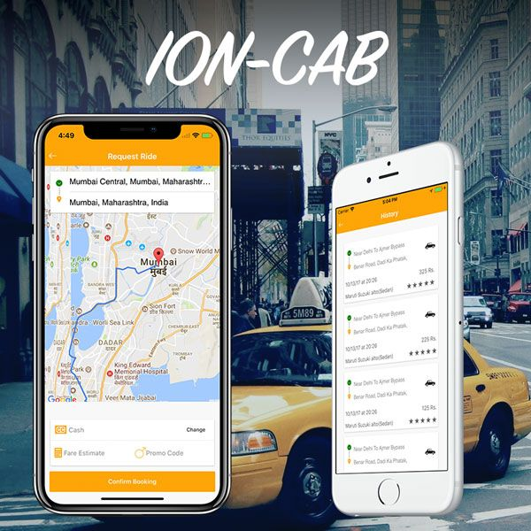 ionic taxi booking / user app