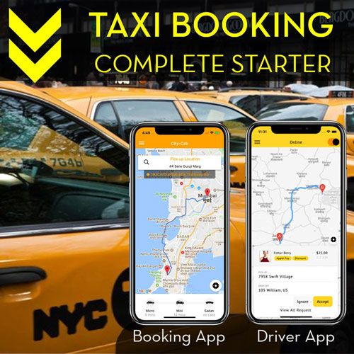Taxi Booking - User and Driver app complete starter kit (Ionic 4)