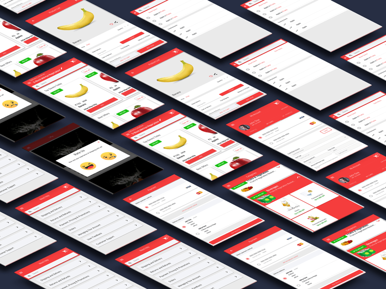 ionic 4 grocery shopping app