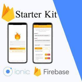 ionic 4 firebase starter app