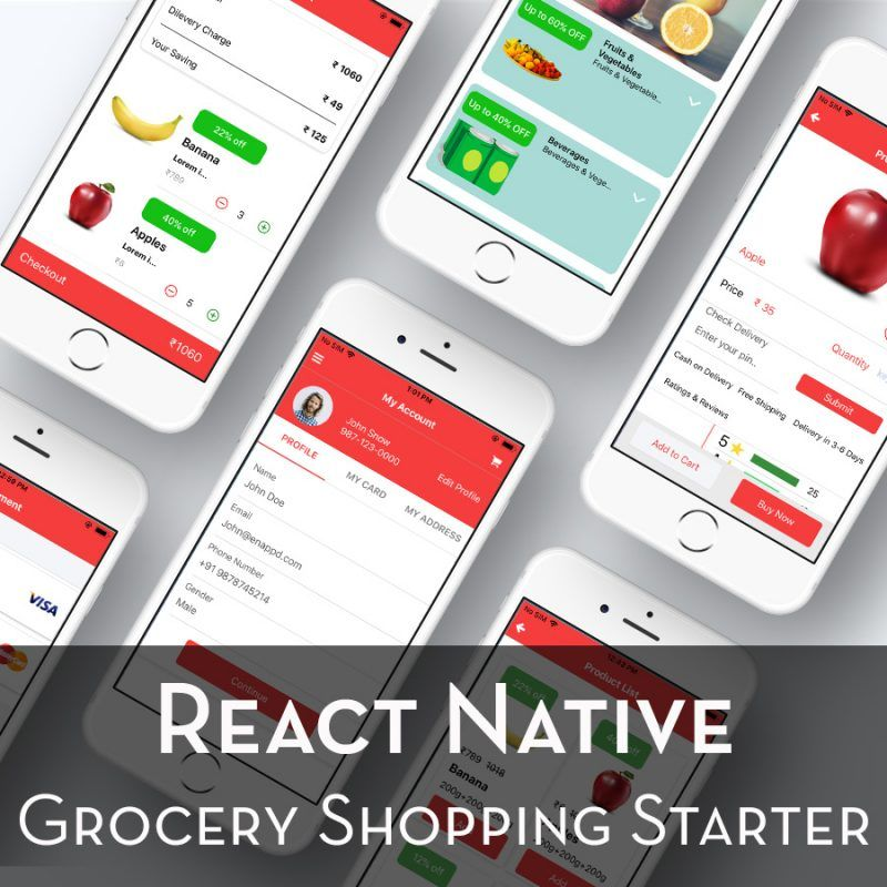 react-native grocery shopping starter