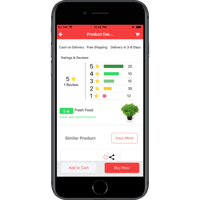 react-native grocery shopping app