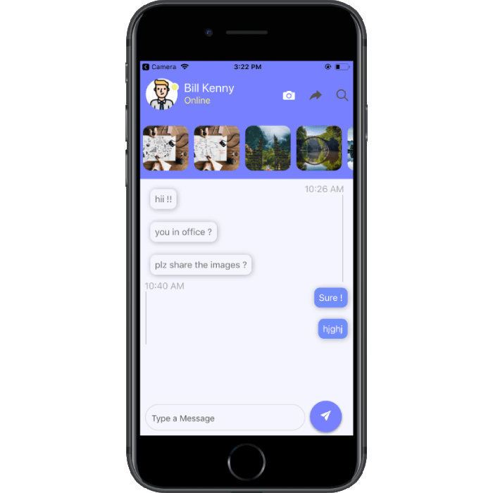 react-native chat themes app