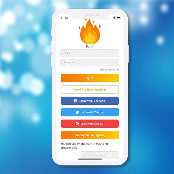Ionic 4 Firebase full auth starter