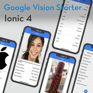 Ionic 4 google vision starter