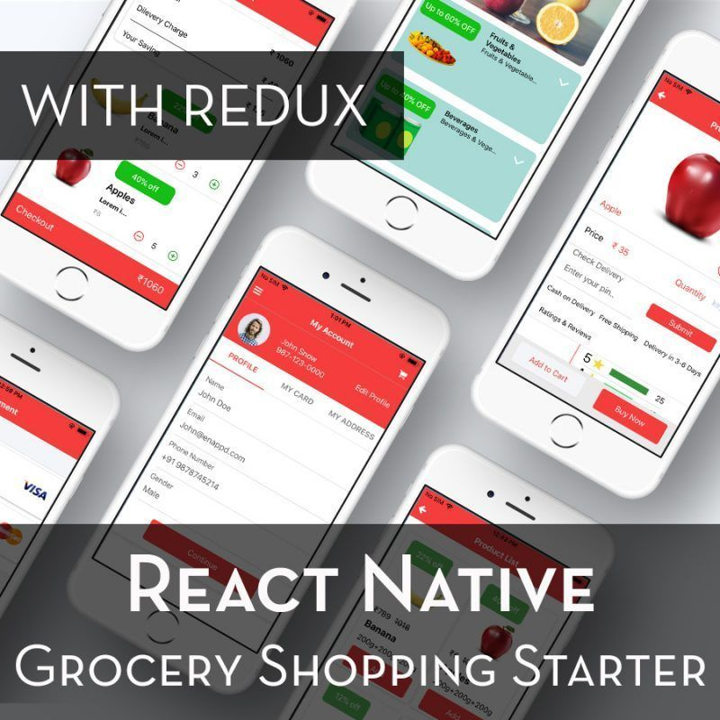 react-native grocery shopping starter with redux