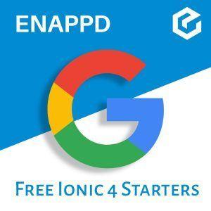Ionic 4 Google free starter