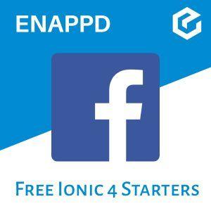 Ionic 4 Facebook free starter