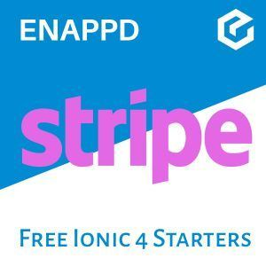 Ionic 4 Stripe free starter