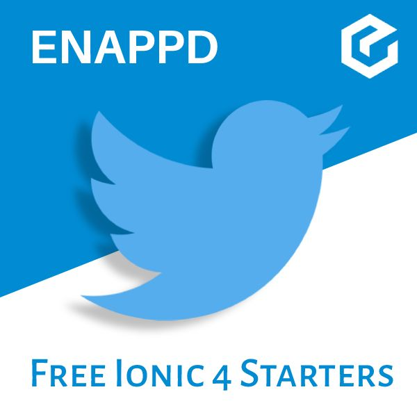 Ionic 4 Twitter free starter