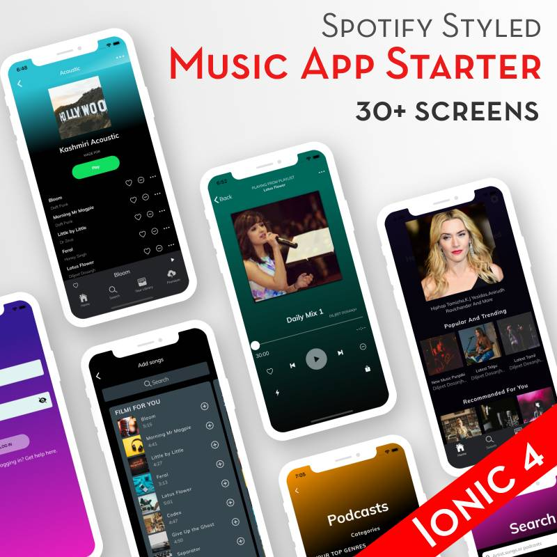 Ionic 4 Spotify App Template -Ion Spot