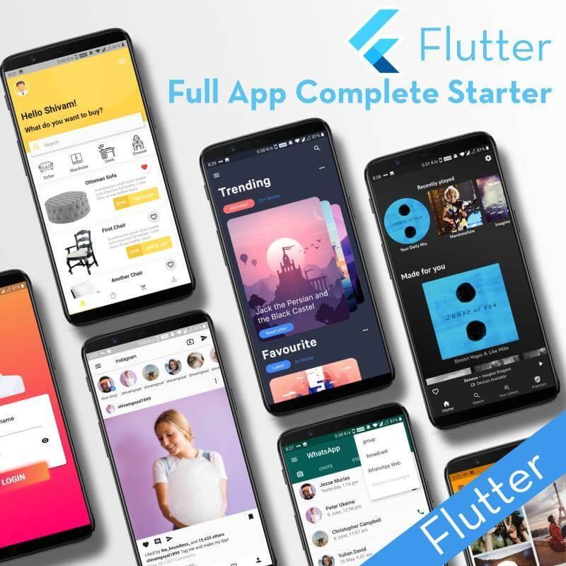 Flutter Full App - Complete starter for Flutter