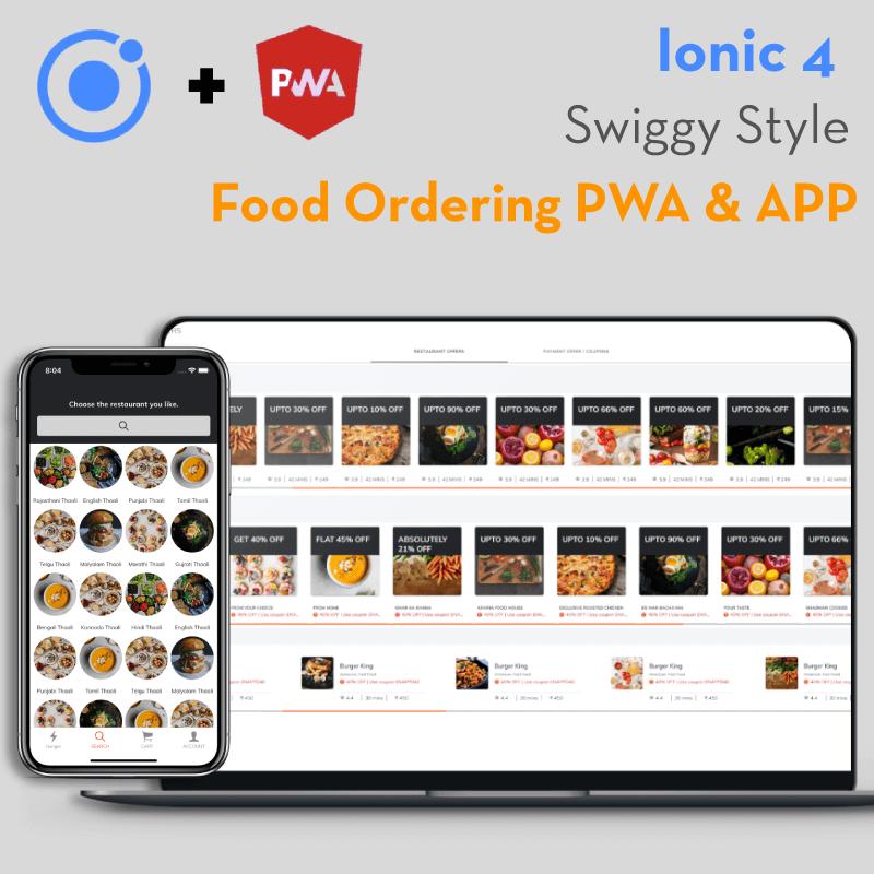 Ionic 4 Food Ordering PWA & App starter