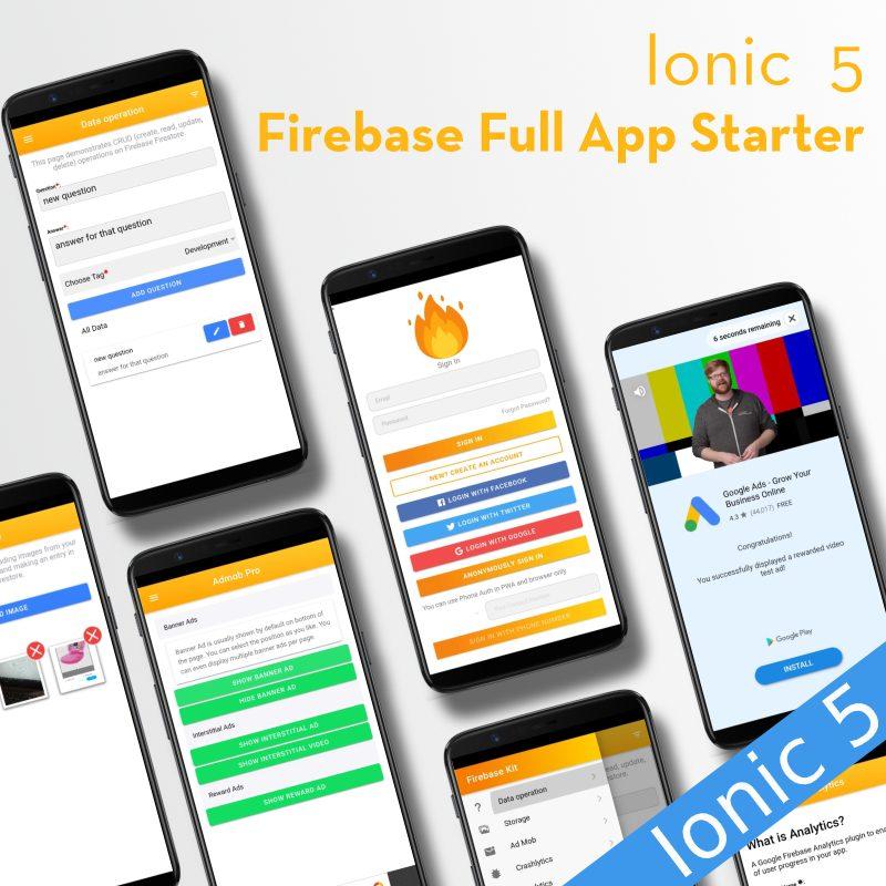 ionic angular firebase full app